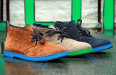 Vibrantly Soled Footwear
