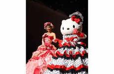 Cartoon Feline Nuptial Gowns