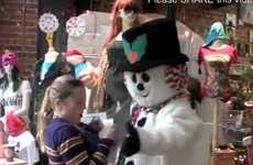 Aggressive Snowman Prank Videos