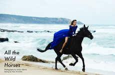 Equestrian Beachwear Editorials
