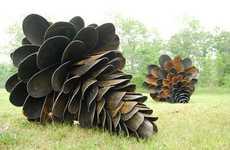 Giant Pine Cone Sculptures