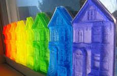 Romantic Rainbow Ornaments