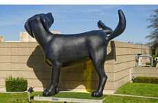 Gigantic Peeing Puppy Statues