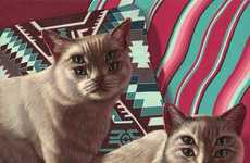 Subtly Eerie Cat Illustrations