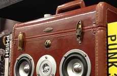 Retro Suitcase-Shaped Speakers