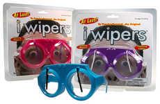 Water-Wiping Eyeglasses