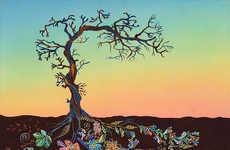 Vibrant Tree Root Illustrations