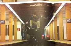 Subway Track Jumping Photography