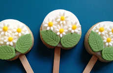 Scrumptious Floral Cookie Pops