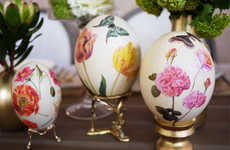 Artistically Accented Floral Eggs