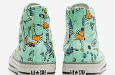 Printed Cartoon Sneakers