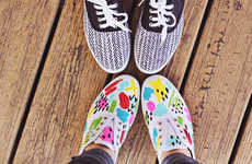 Flamboyant DIY Spring Sneakers