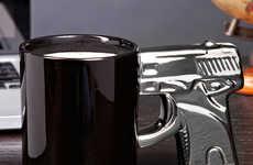 Gun Handle Coffee Mugs