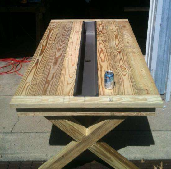 Ice Cooler Tables