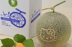 Iconic Feline-Printed Fruit