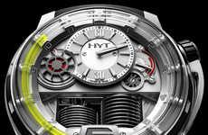 Sleek Fluorescein Timepieces