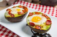 DIY Baked Egg Avocados