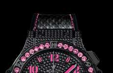 Blinged Out Black Watches