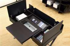 Gadget-Charging Compartmental Desks