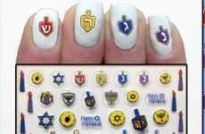 Festive Menorah Manicures
