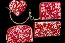 Heart-Patterned Designer Purses