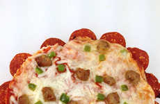 Pepperoni-Crusted Pizzas