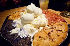 Cookie-Combined Dessert Pizzas