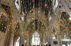 Suspended Roses Installations