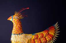 Phoenix Paper Sculptures