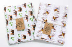 Whimsically Patterned Tea Towels