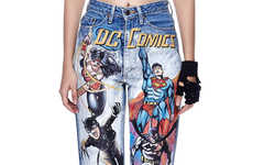 Painted Superhero Jeans