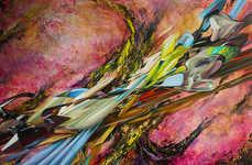 Cosmic Hyperreal Paintings