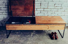 Artisanal Bench Storage