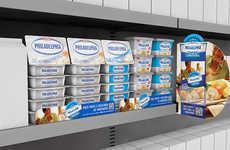 Cream Cheese Retail Displays