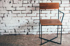 Rustic One-Armed Seating
