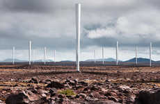 Silent Bladeless Wind Turbines