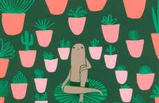 Whimsical Yogi Illustrations