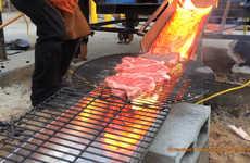 Lava-Charred Steaks