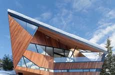 Wooden Angular Houses