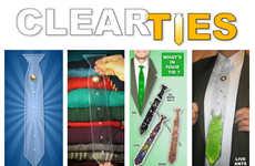Customizable Clear Neckties