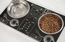DJ-Inspired Dog Dishes