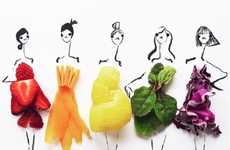Fruity Fashion Sketches