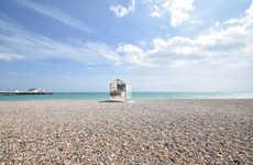 Mirrored Beach Huts