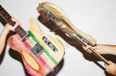 Upcycled Skateboard Guitars