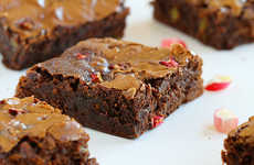 Rhubarb Brownie Treats