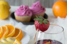 Boozy Sangria Cupcakes