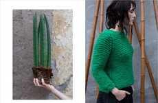 Textural Knitwear Editorials