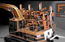 Swift Brick-Laying Robots