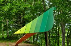Bird-Shaped Tree Houses