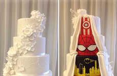 Hidden Superhero Wedding Cakes